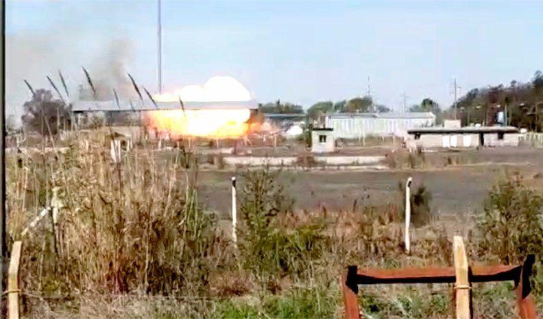 Impresionante explosión en una GNC de General Levalle