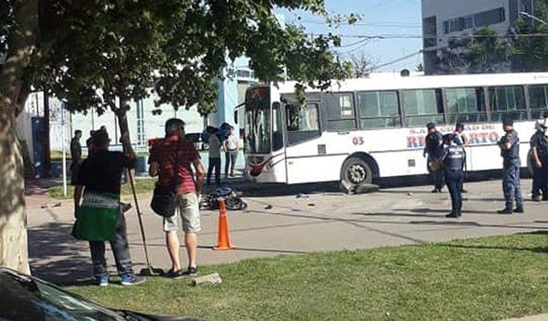 Motochorros detenidos al chocar con otra moto en plena huida