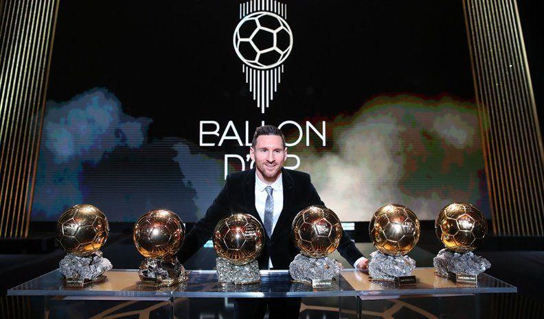 Messi consiguió el 6º balón de oro como Mejor Jugador del año