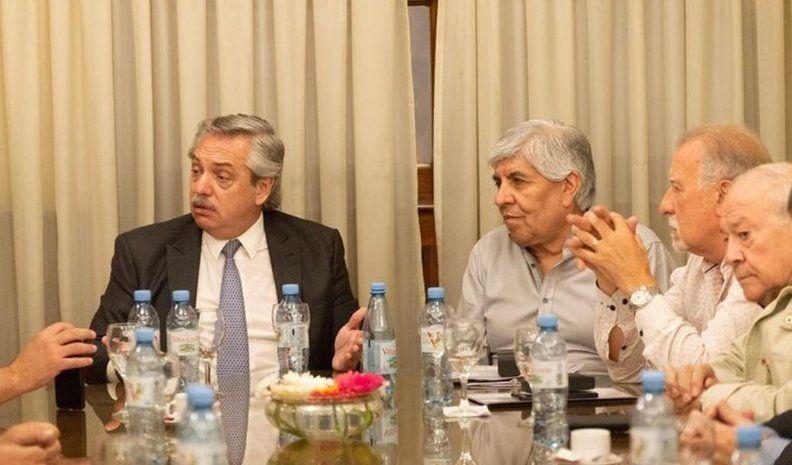Fernández se reunió con Hugo Moyano y referentes sindicales