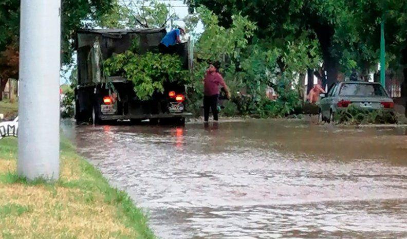 Inconvenientes en Coronel Moldes y San Basilio tras la tormenta