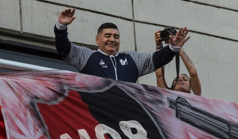 Maradona llegó a Rosario