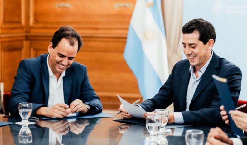 De Pedro y Llamosas firmaron un acuerdo de obras para la ciudad