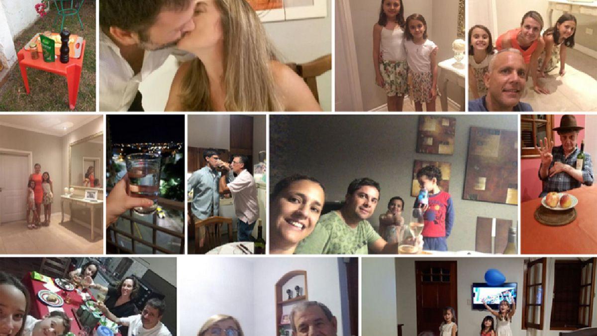 Pablo y Natalia compartieron fotos y videos con familiares y amigos