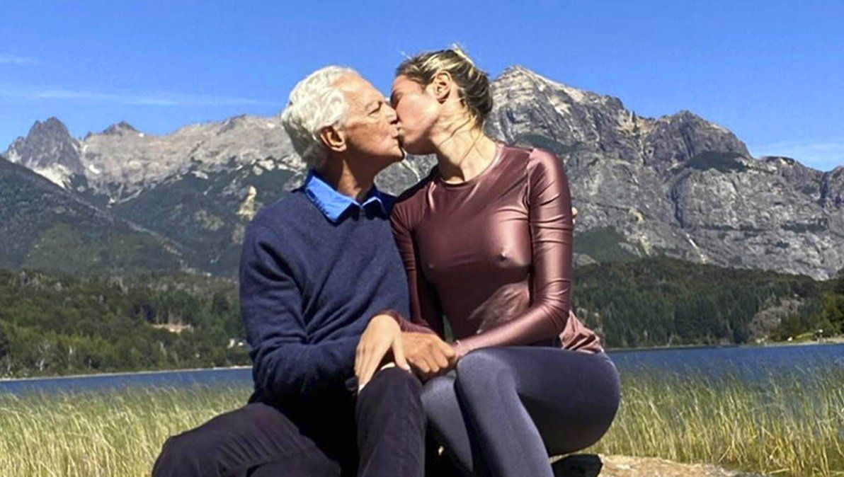 Eduardo Constantini y Elina Fernández Fantacci enamorados en su luna de miel