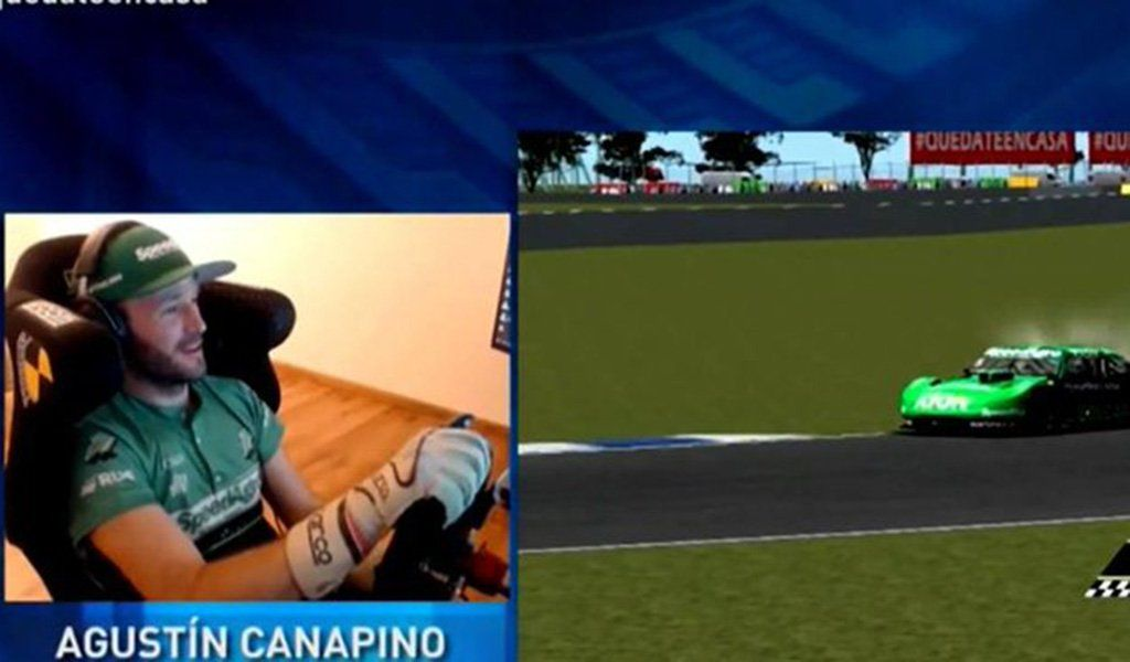 El campeón Canapino se quedó con la carrera virtual en los simuladores.