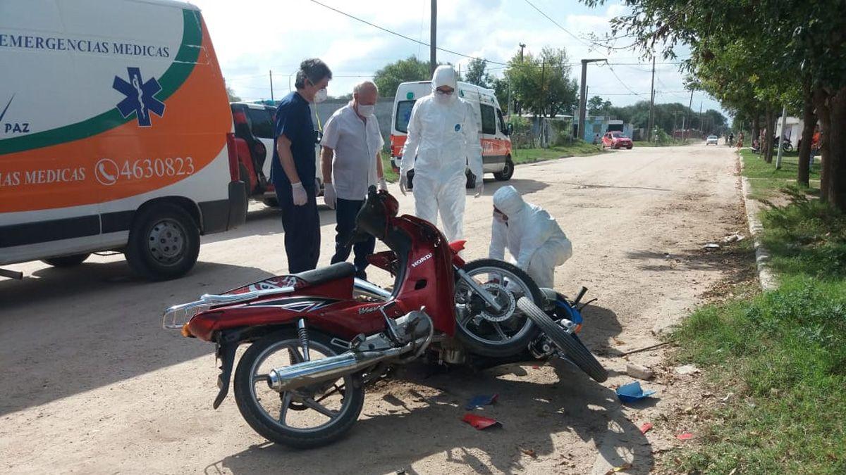 El accidente ocurrió en intersección de calle Aníbal Ponce y Pasaje Uriarte