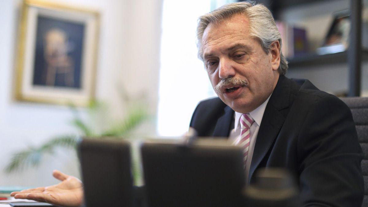 El presidente Alberto Fernández se refirió sobre la lucha contra la pandemia.