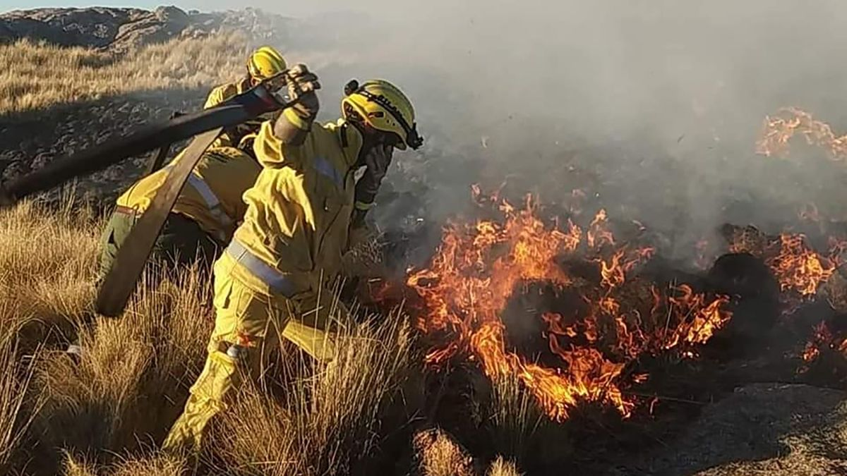 En las Altas Cumbres se quemaron 140 hectáreas el fin de semana.