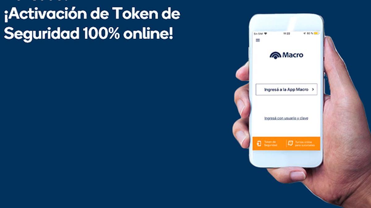 En Banco Macro activás el Token de seguridad desde tu celular.
