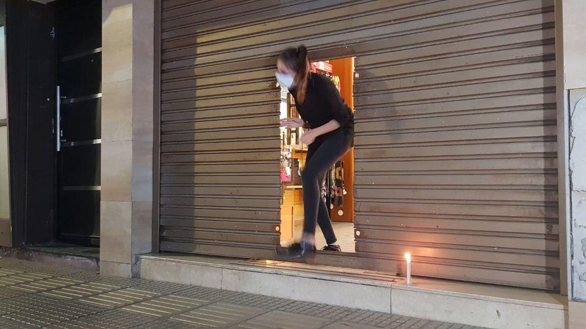 Los comercios de Río Cuarto prendieron velas contra las tarifas de la luz.