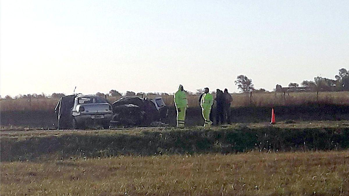 Tres fallecidos es el saldo de la colisión en la ruta 8.