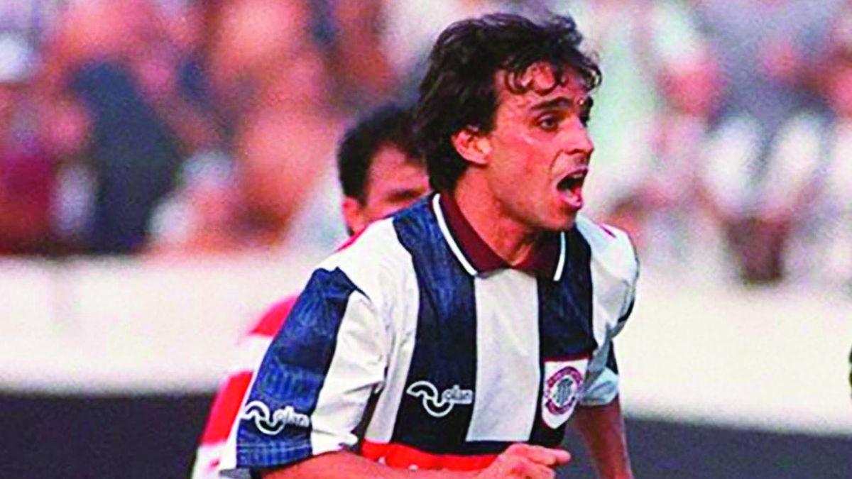 Uno de los tantos gritos de gol. En Talleres convirtió 23 en 69 partidos