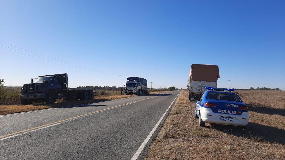 Un cabrerense con heridas graves tras ser embestido por un camión en cercanías de Gigena