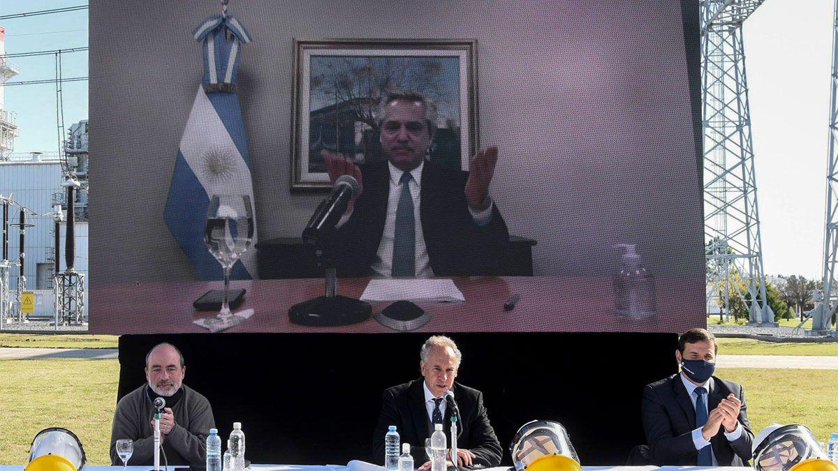 El presidente Alberto Fernandez encabezó este mediodia por videoconferencia