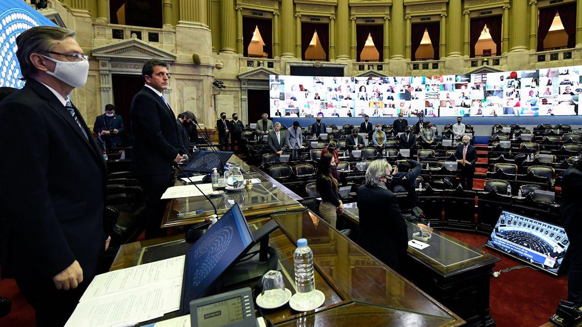 El diputado Sahad participó presencialmente de una sesión de Diputados de casi diez horas la semana pasada.