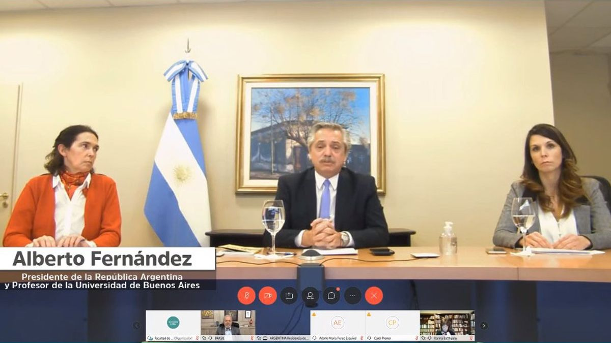 Alberto Fernández conversó con Lula Da Silva en una teleconferencia.
