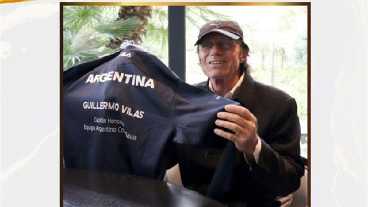 Vilas fue nombrado Capitán Honorífico de Copa Davis