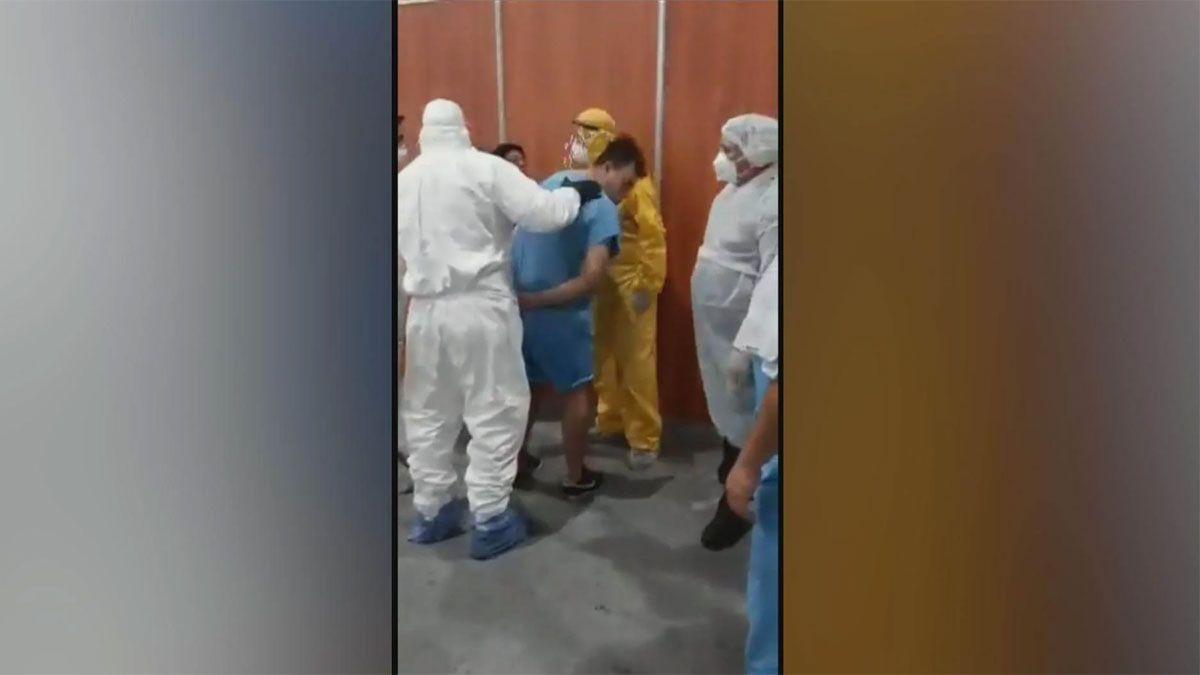 La pelea se desató en el Centro de Aislamiento de Costa Salguero