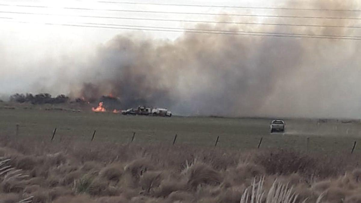 El incendio se desató en la zona rural de Olaeta.