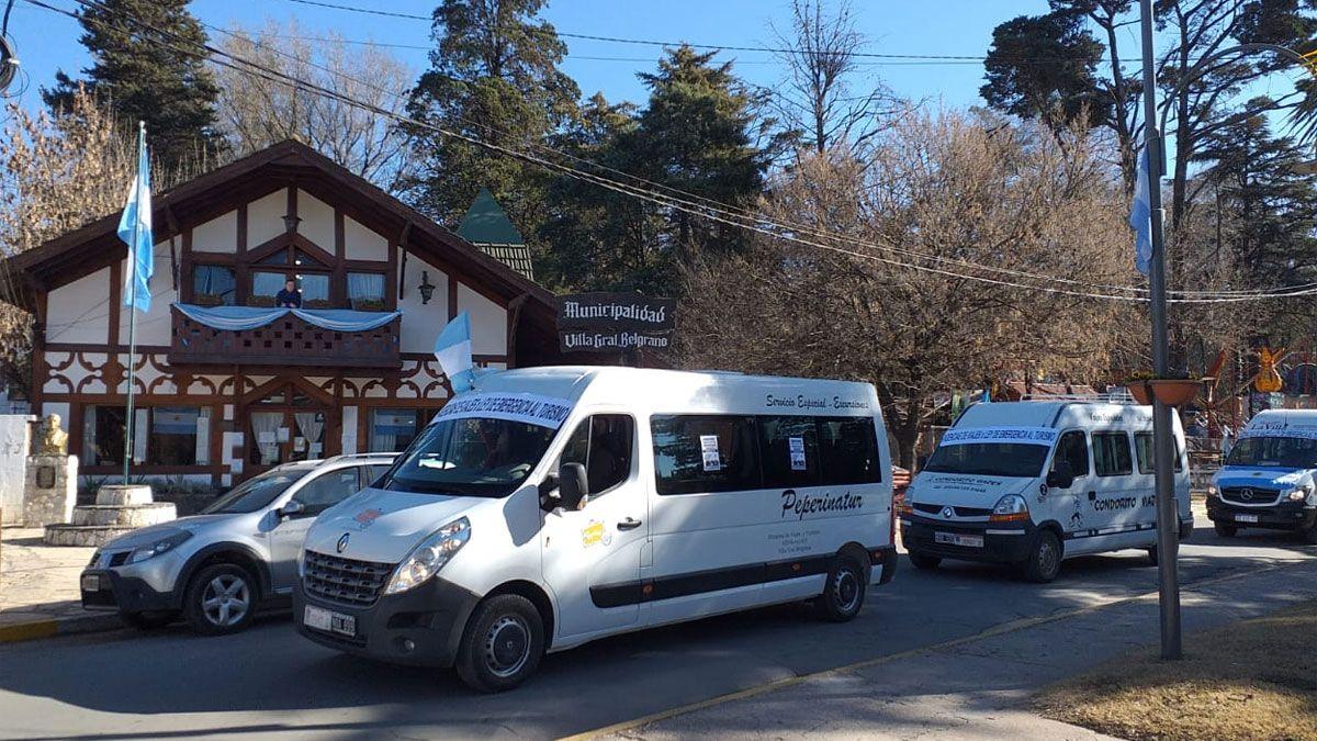 El sector turístico del valle de Calamuchita protestó esta mañana