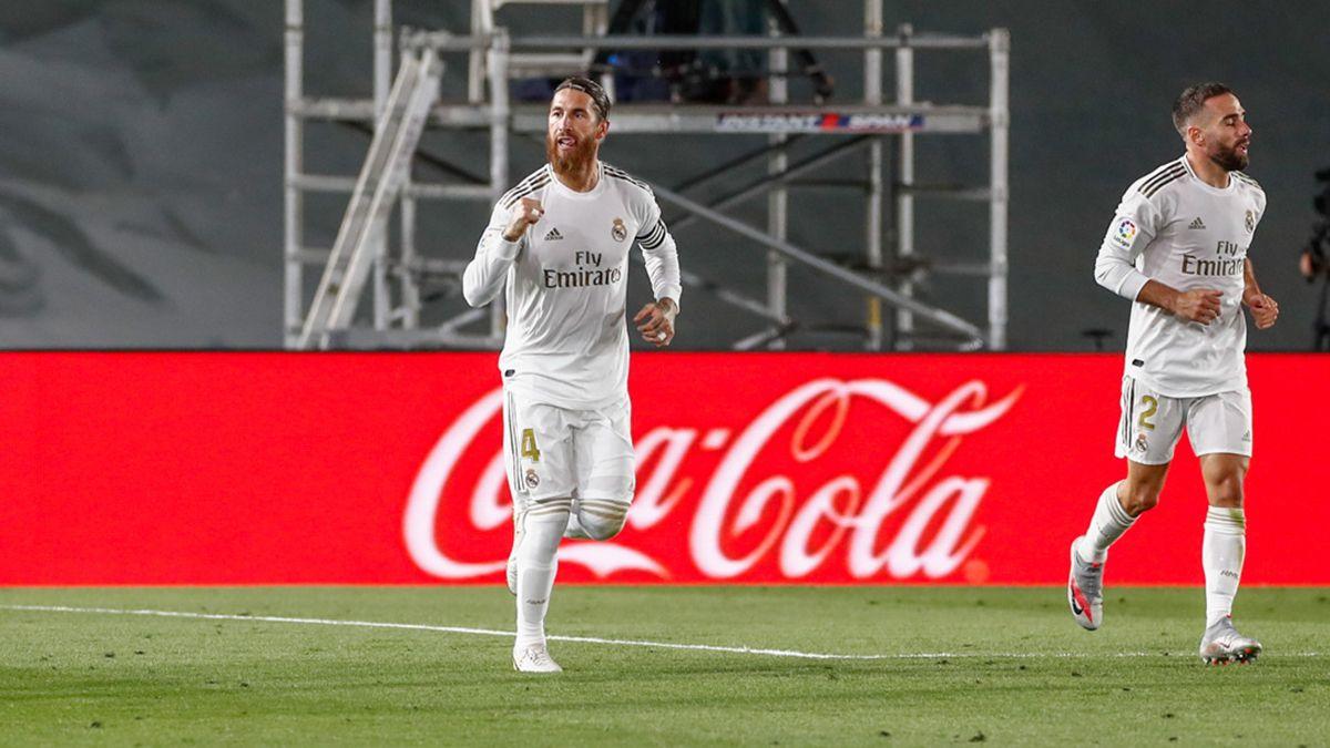 Sergio Ramos marcó el único gol del Real Madrid