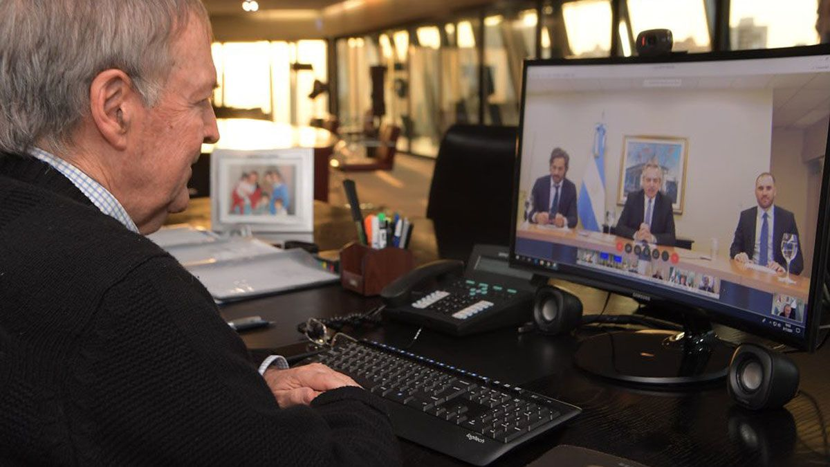 El gobernador Schiaretti participó de la reunión virtual con el presidente Alberto Fernández.
