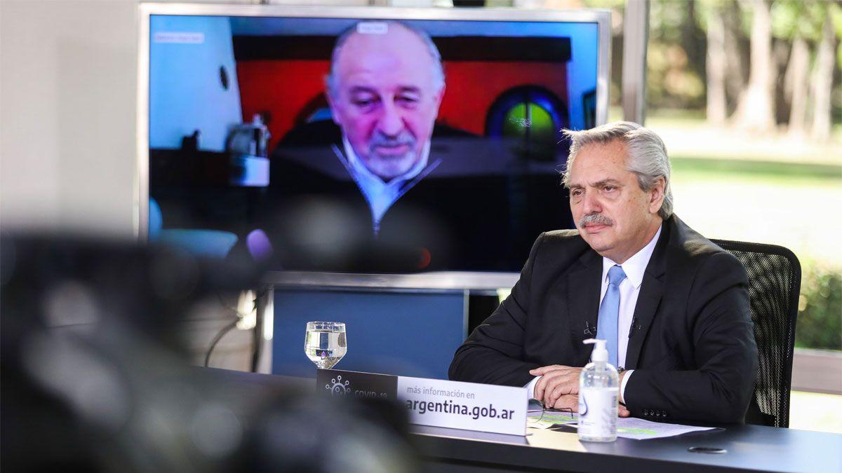 El presidente Alberto Fernandez encabeza la presentación de una nueva etapa del programa de Asistencia de Emergencia al Trabajo y la Producción (ATP).