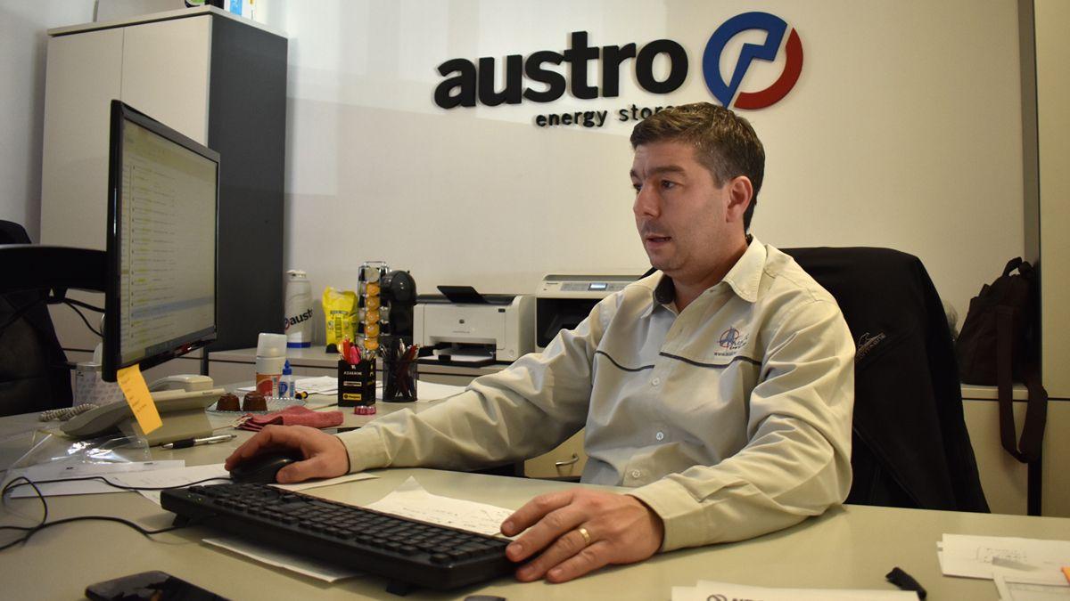 El titular de Austro Energy Store