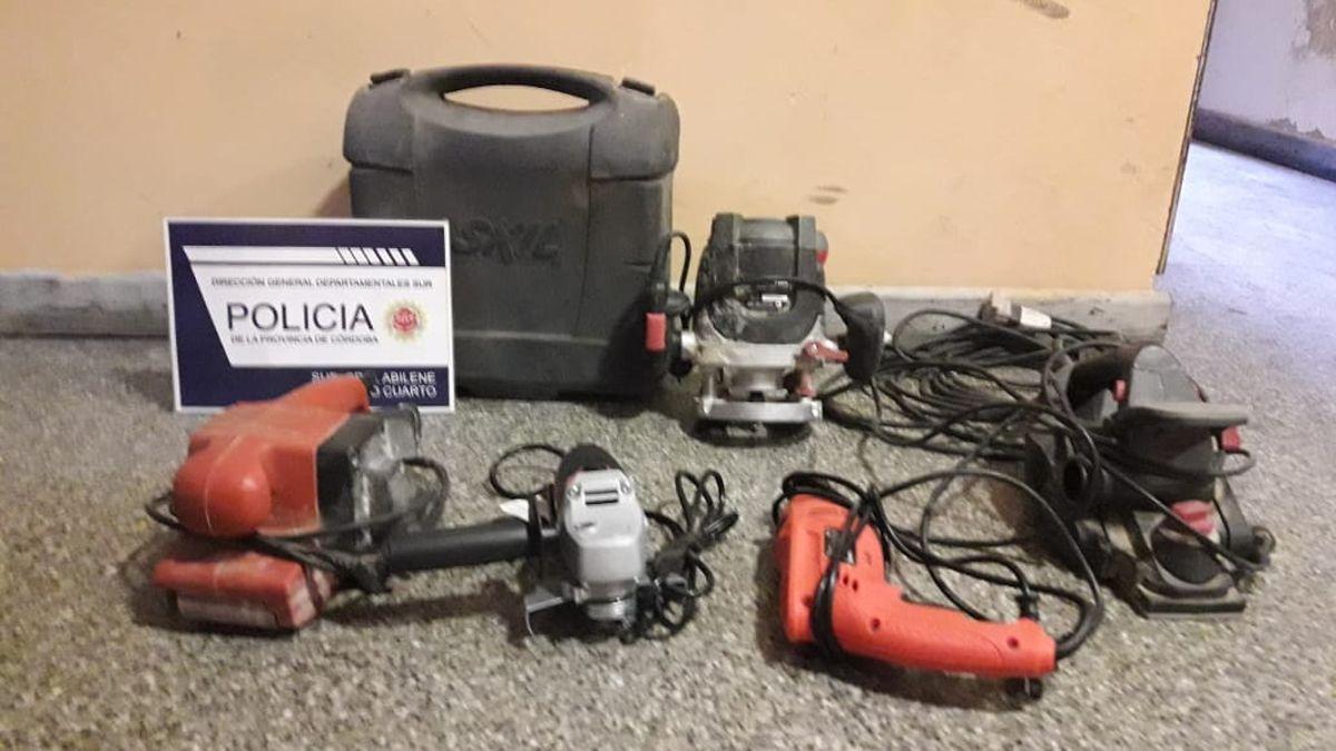 Las herramientas fueron secuestradas en dos allanamientos.