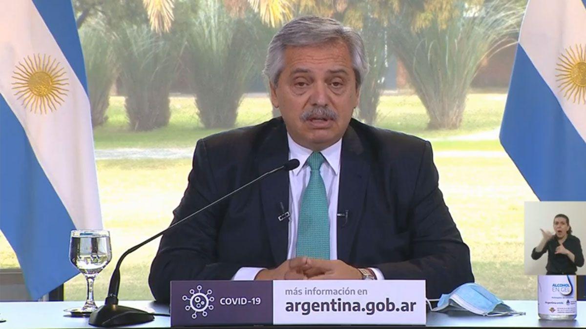 Fernández reforzó el llamado a la responsabilidad social y extendió la cuarentena en AMBA