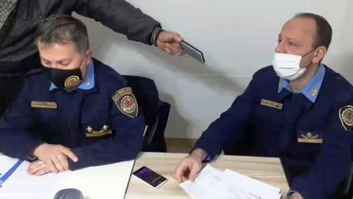 Las autoridades de la Departamental General Roca brindaron una conferencia de prensa este viernes.Foto: Cabledigital