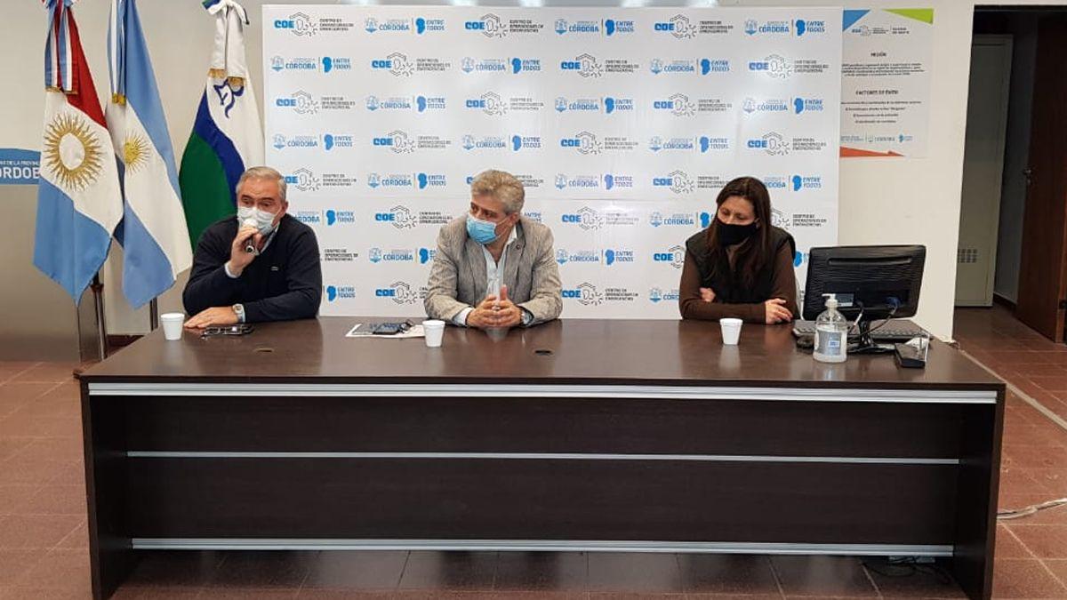 El COE Río Cuarto brindó una conferencia de prensa sobre el nuevo caso positivo en la ciudad.