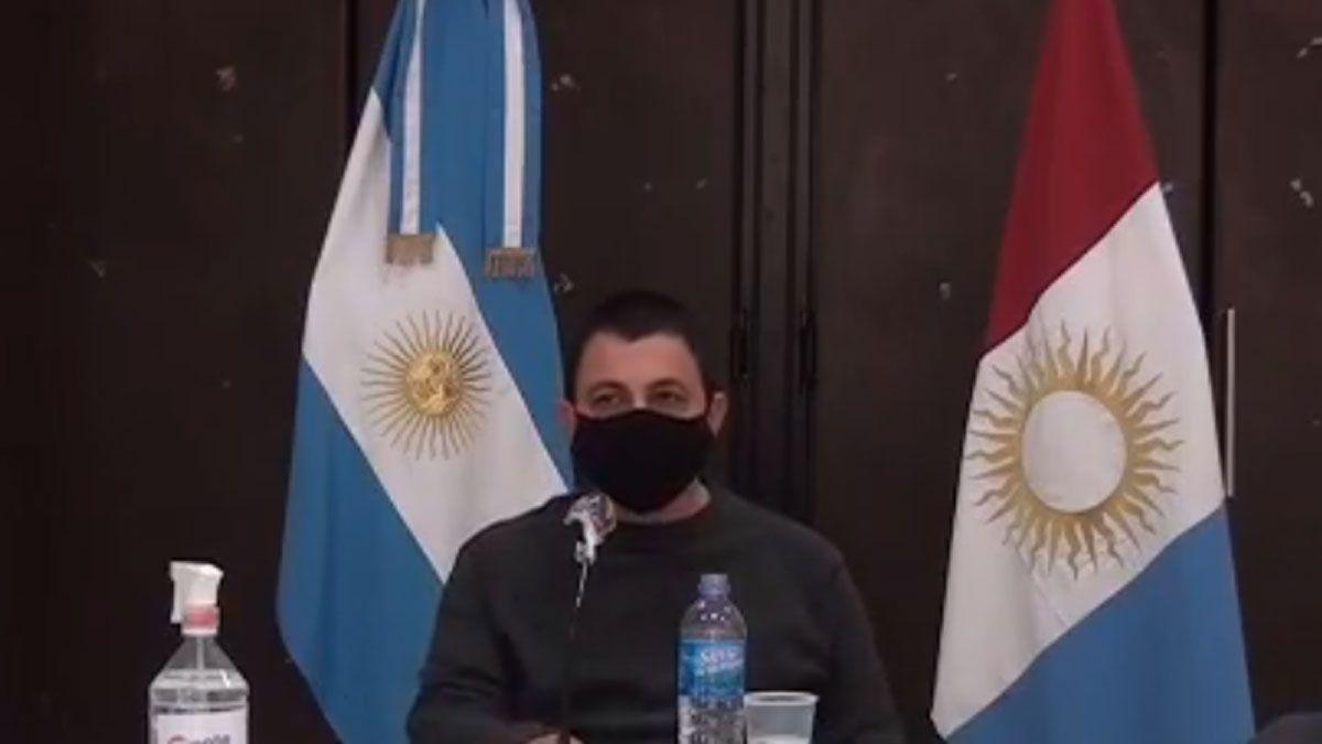 Las autoridades municipales y sanitarias de Monte Maíz encabezaron una conferencia de prensa