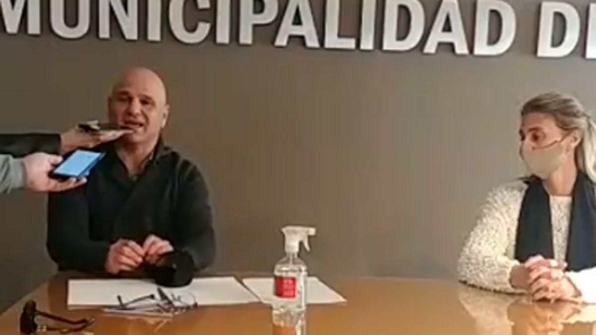 El intendente Fredi Decarlini confirmó los primeros tres casos de coronavirus en Berrotarán