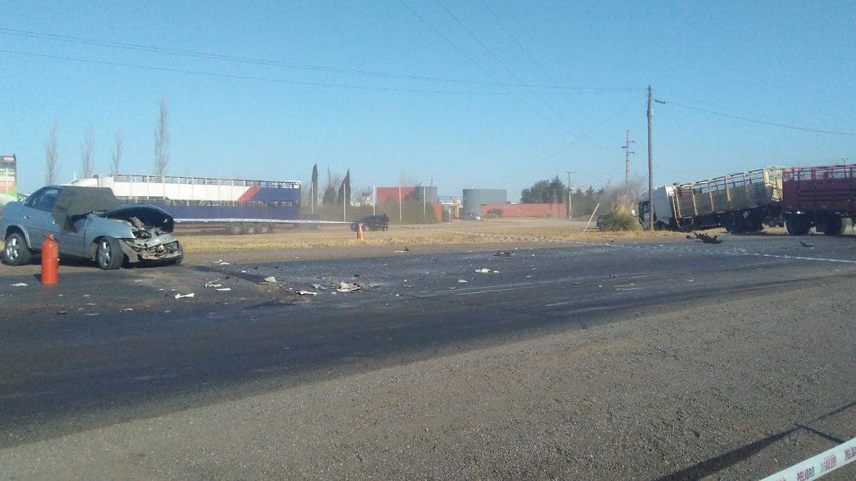 El accidente se registró en la tarde de este miércoles en ruta 8.