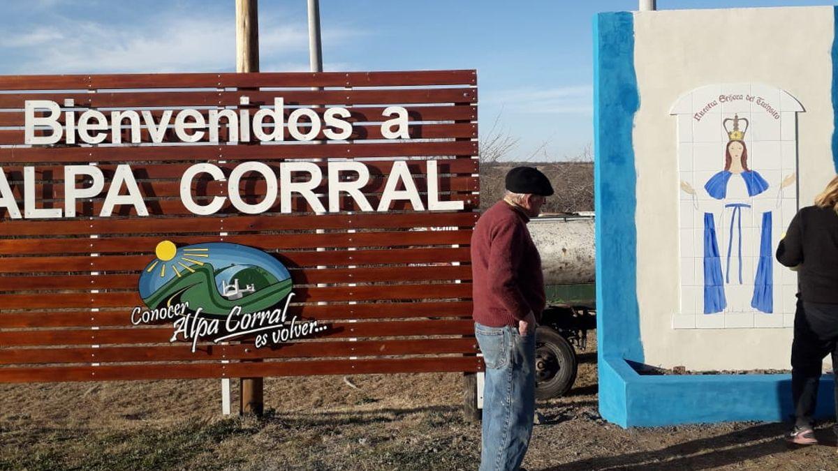 La localidad de Alpa Corral notificó el primer caso de coronavirus.