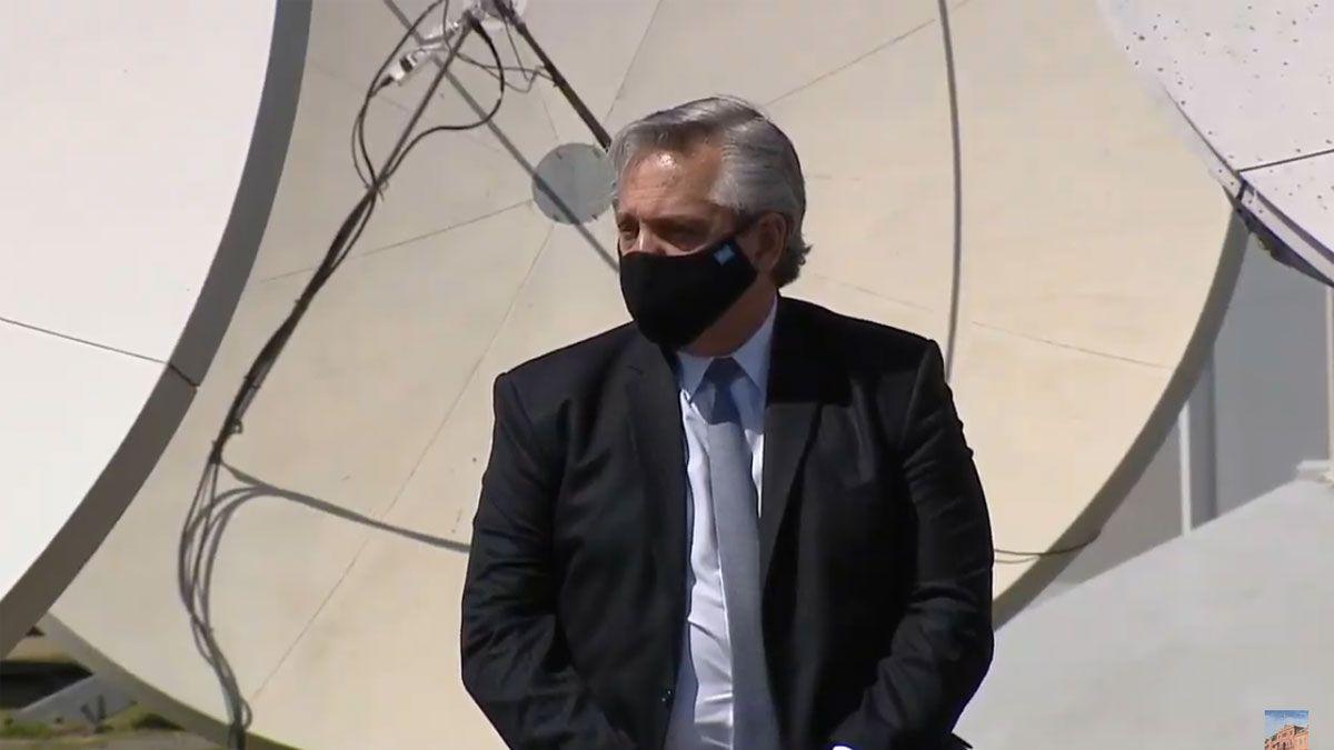 El presidente Alberto Fernández presentó el plan Conectar.