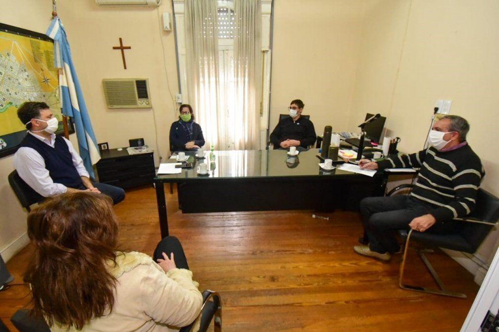 El intendente se reunió con miembros del Tribunal de Cuentas