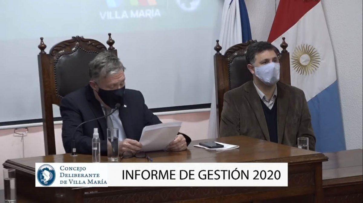 Sin la oposición, Rosso brindó su primer informe de gestión