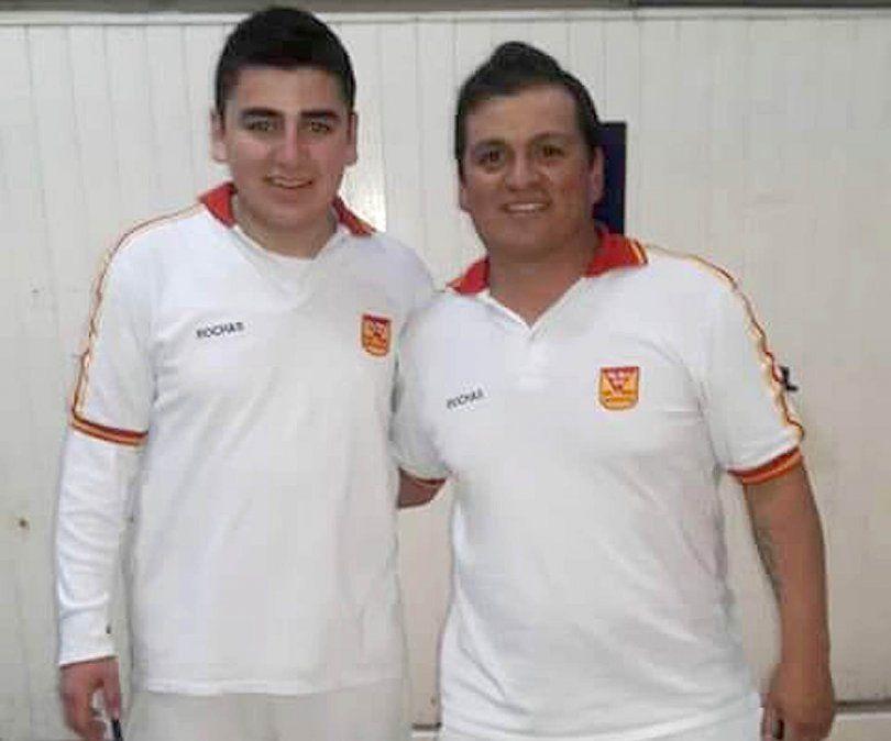 Jorge Guzmán con otro destacado compañero en Rivadavia