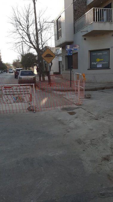 El jueves se trabajó sobre la calle Lisandro de la Torre en el centro de la ciudad. Obra finalizada.
