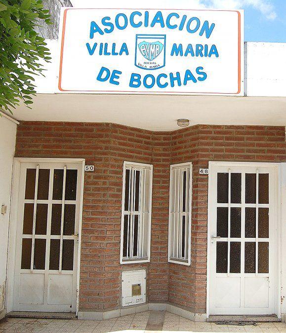 La fachada de la Asociación Villa María de Bochas. Su sede social se sitúa en Bulevar Italia 48.