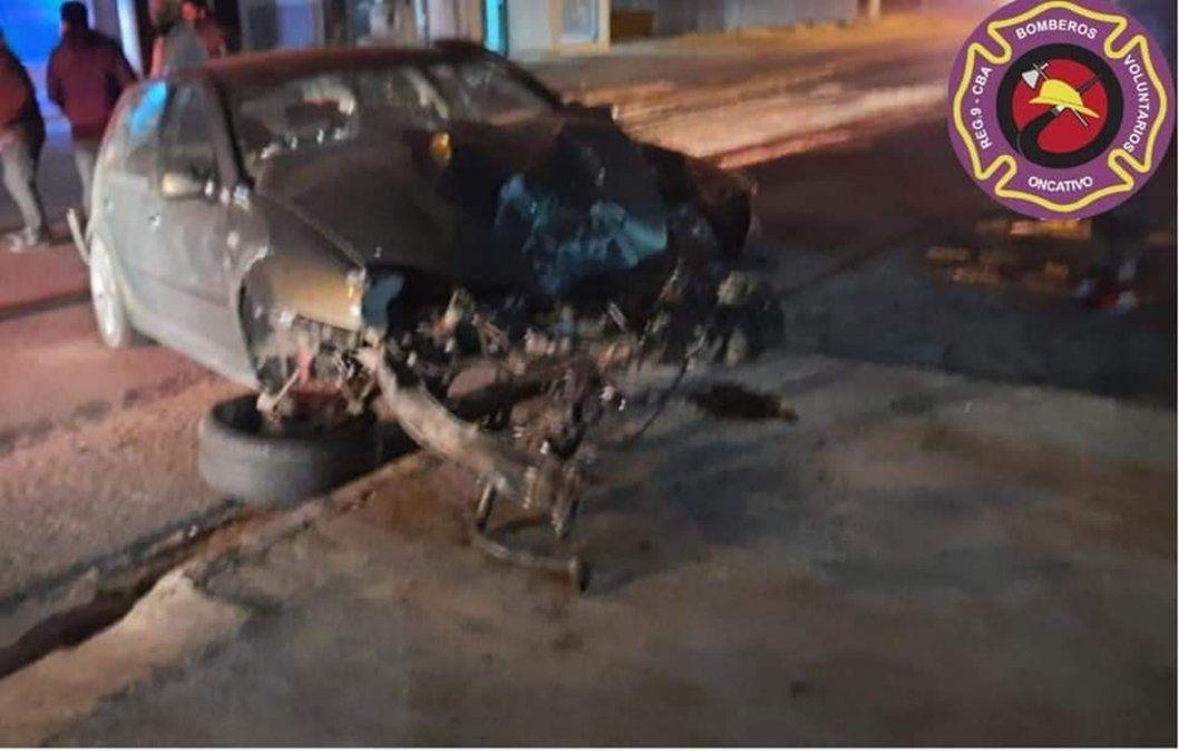 Oncativo: impactante accidente de tránsito y un joven trasladado grave a la ciudad