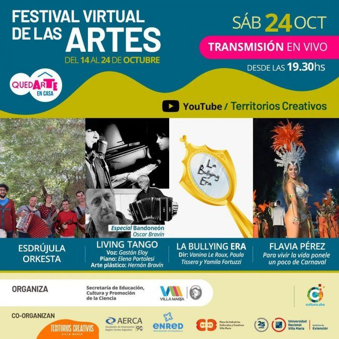 El miércoles comienza el Festival QuedARTE en casa