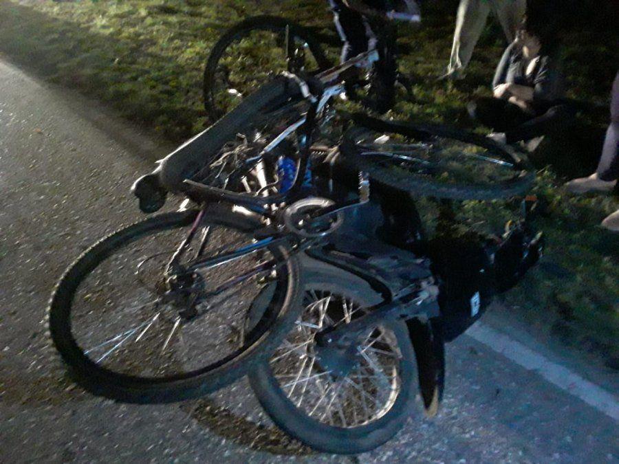 Accidente de tránsito en el ingreso a Tío Pujio por autopista