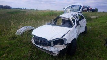 Está grave la mujer que se accidentó en la autovía el martes, cerca de Baigorria