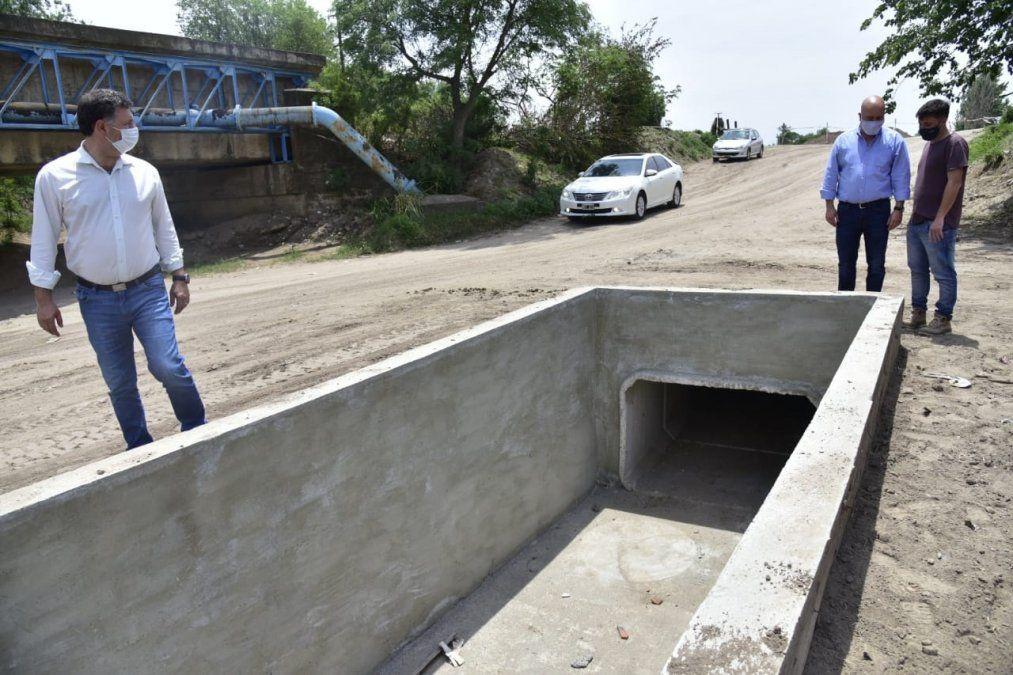 Concluyó la obra de desagües pluviales en La Calera y Roque Sáenz Peña