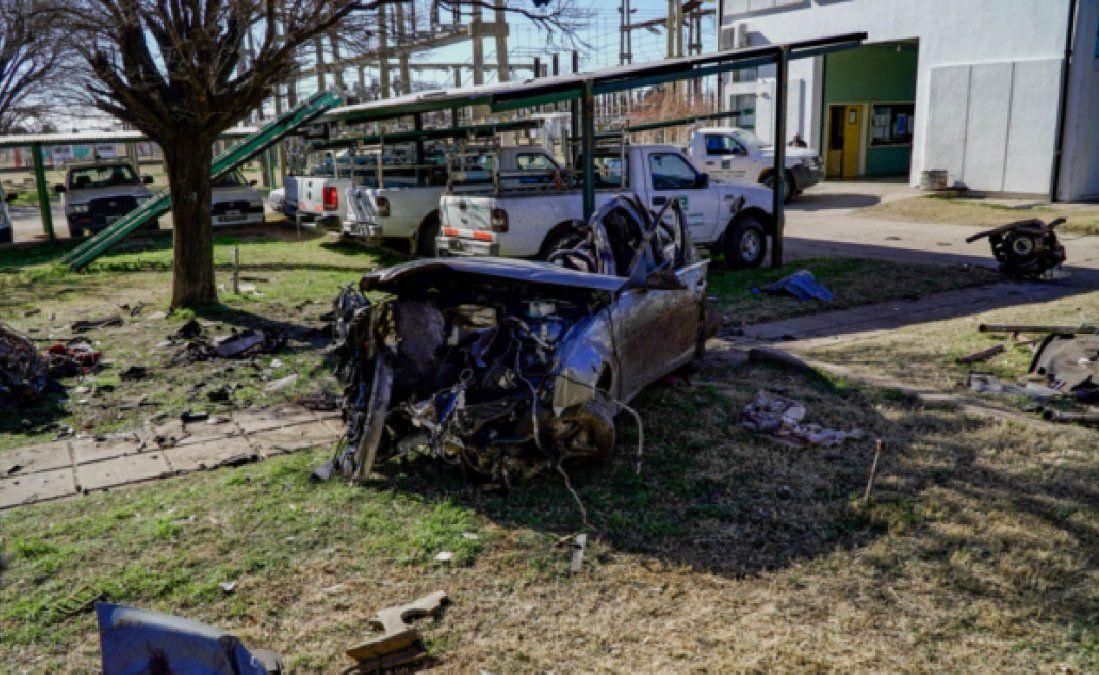 La violencia del accidente destruyó casi por completo el automóvil que conducía Agustín Mantaras.