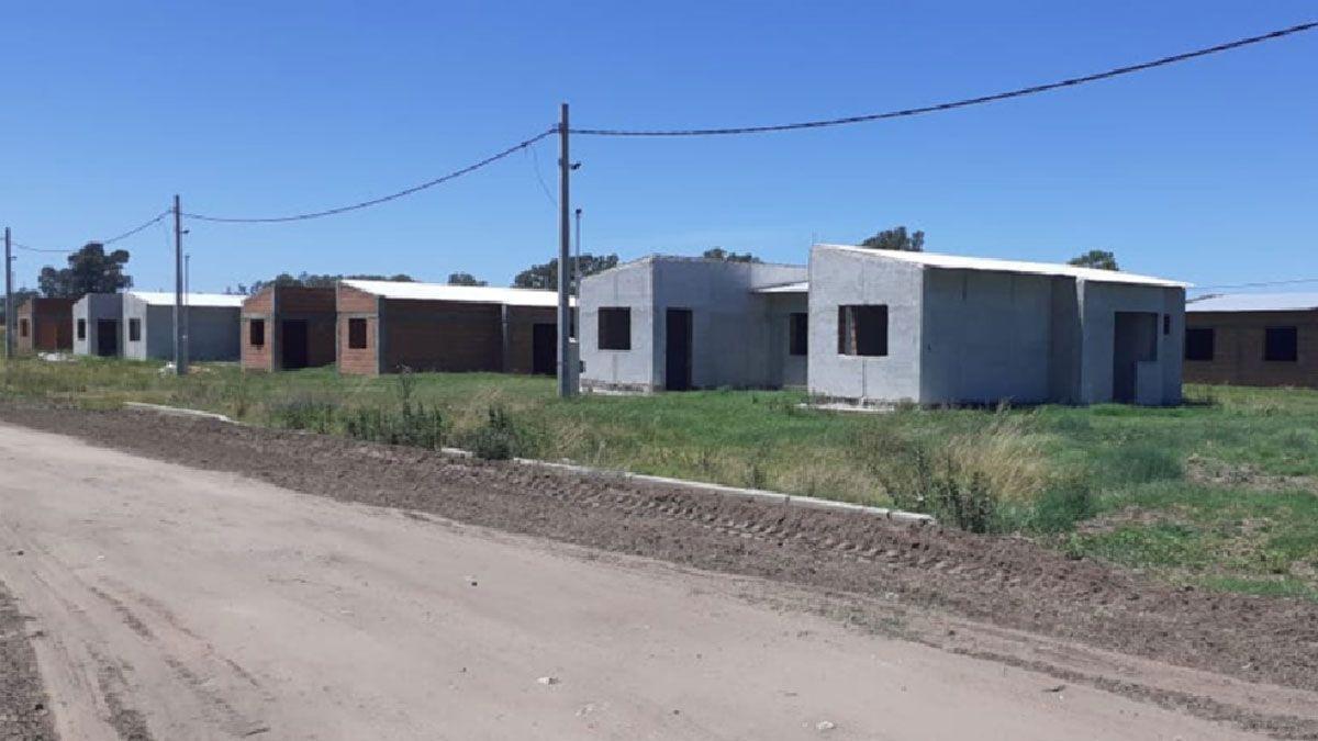 Las viviendas sociales de la Nación paralizadas en Huinca.